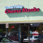 Sign at South Philly Cheese Steaks in Golden